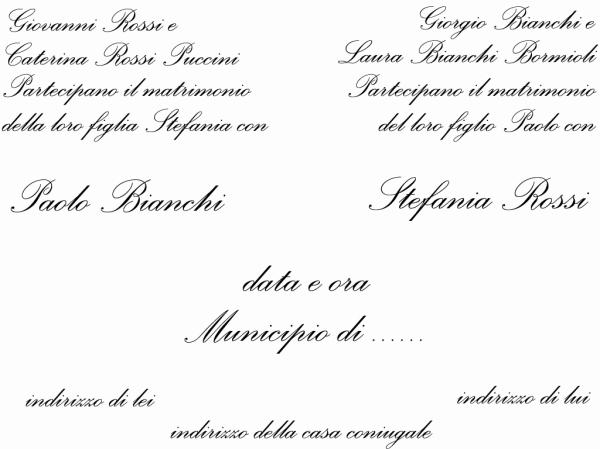 Partecipazioni Matrimonio Zio.Partecipazioni E Inviti Di Nozze Le Regole Del Bon Ton